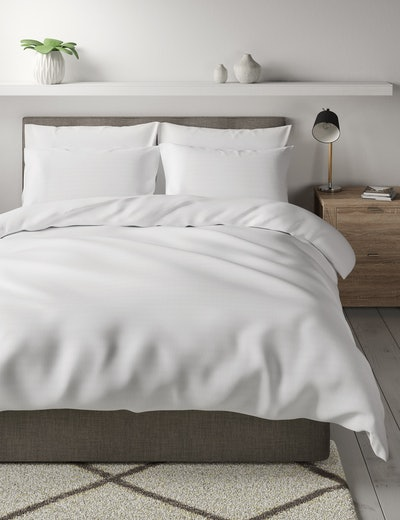 Pure Cotton Textured Double Duvet Bedding Set