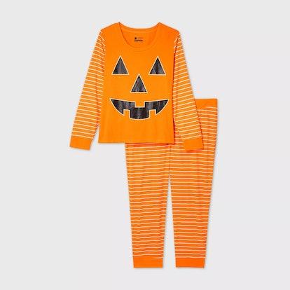 Target Women's Plus Size Halloween Pumpkin Matching Family Pajama Set