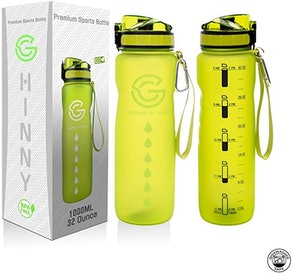 GHINNY Water Bottle With Time Marker (32oz)