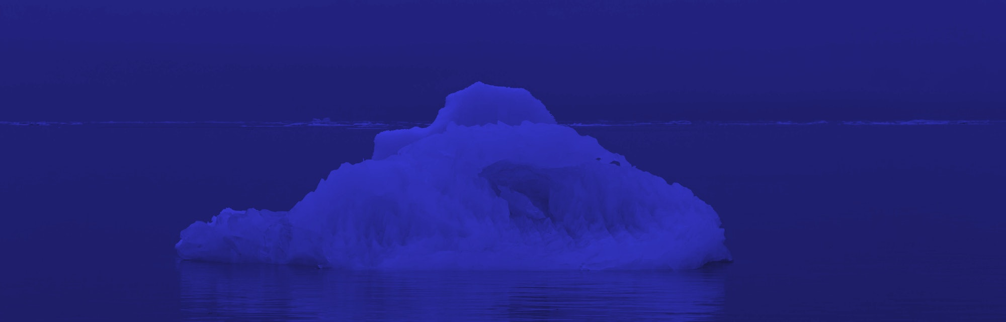 Arctic floating ice.