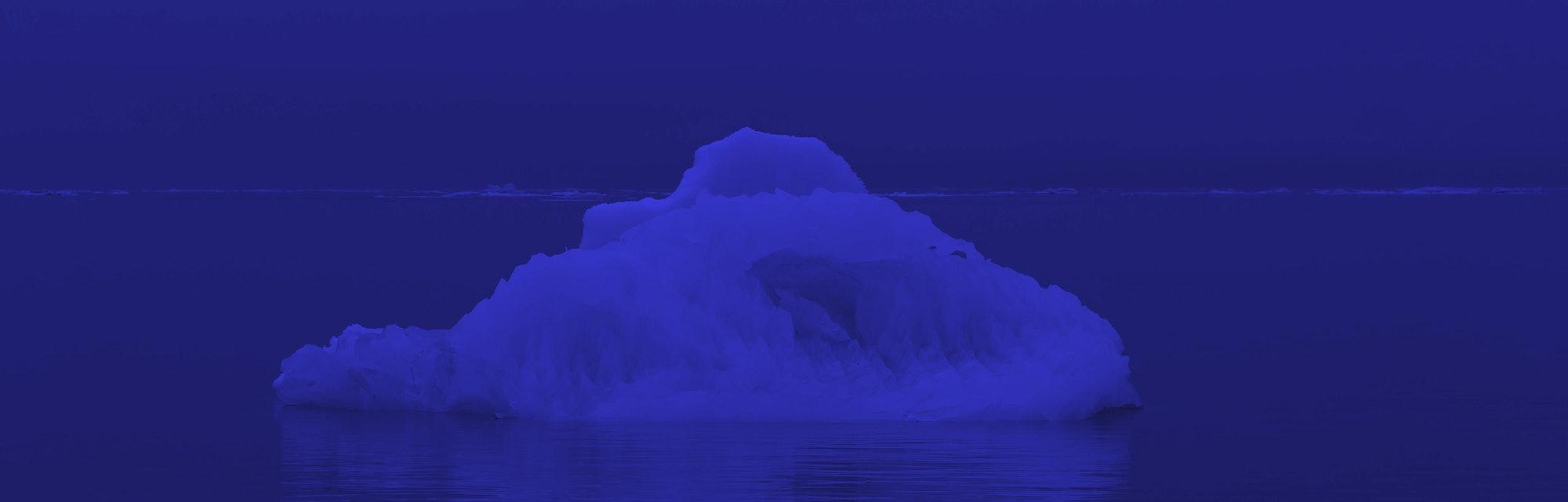Arctic floating ice.