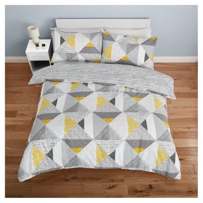 King Sized Multi Geo Duvet Set