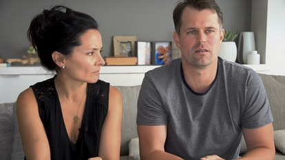 Sarah Edmondson and her husband Nippy in HBO's 'The Vow'