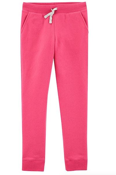 Osh Kosh Girls' Fleece Jogger Pants