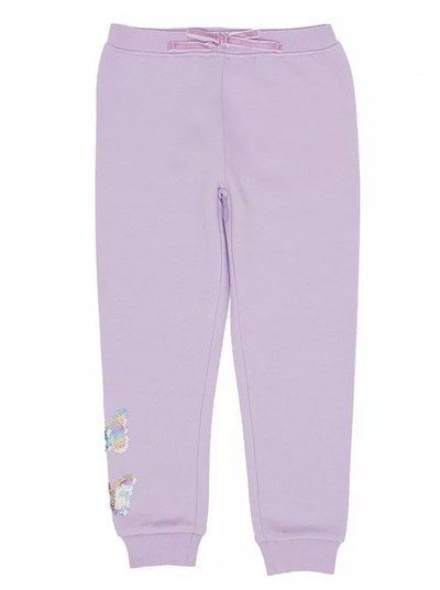 Toddler Girls Butterfly Inset Minky Sweatpant