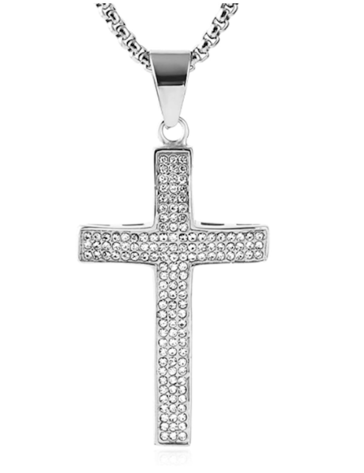 Hzman Iced Out Cross Necklace