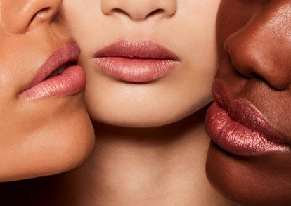 The new lipstick features a glimmering hint of gold.