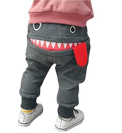 Toddler Boys Girls Cartoon Monster Sweatpants