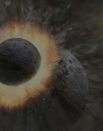 how did the moon form
