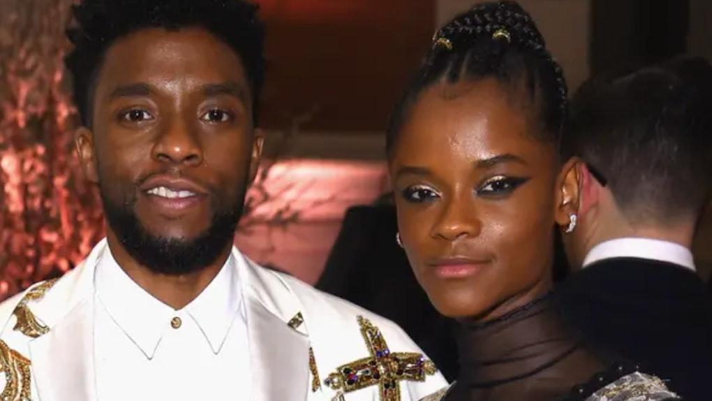 Letitia Wright and Chadwick Boseman
