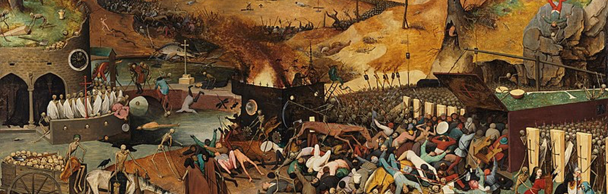 A painting depicting the Black Death.