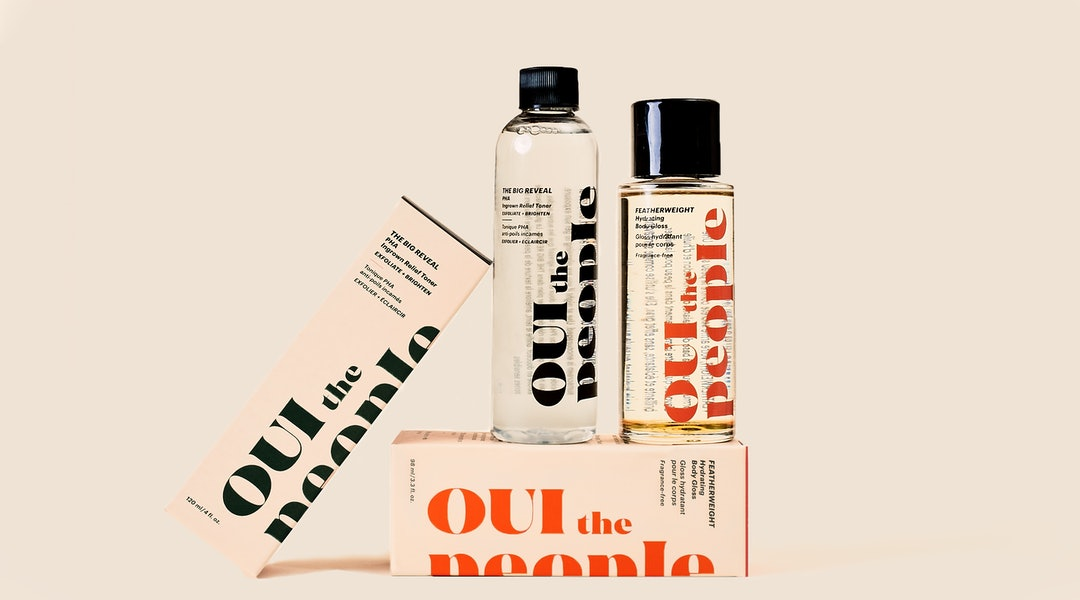 Oui The People The Big Reveal Toner and body oil.