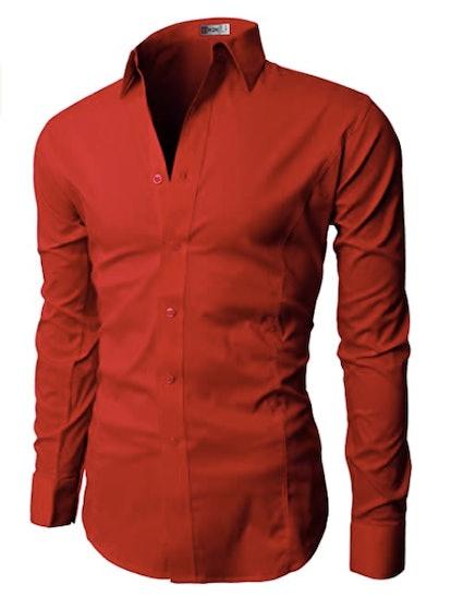 H2H Mens Dress Slim Fit Shirt