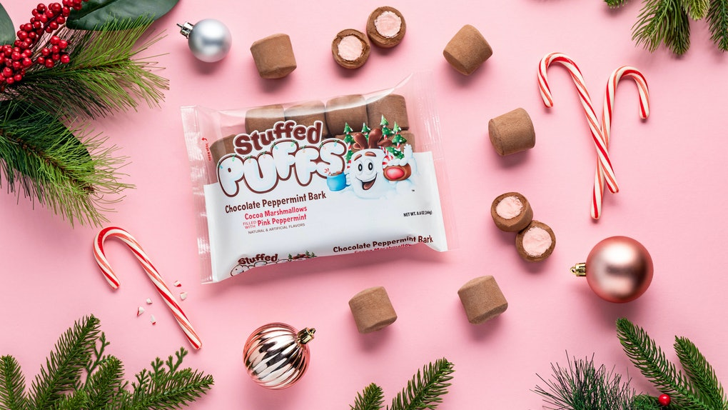 Here's where to get Stuffed Puffs' chocolate peppermint bark flavor.