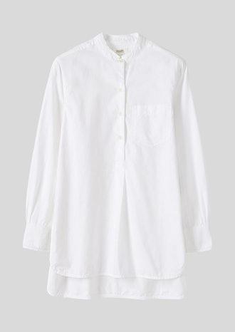 Cotton Oxford Long Shirt