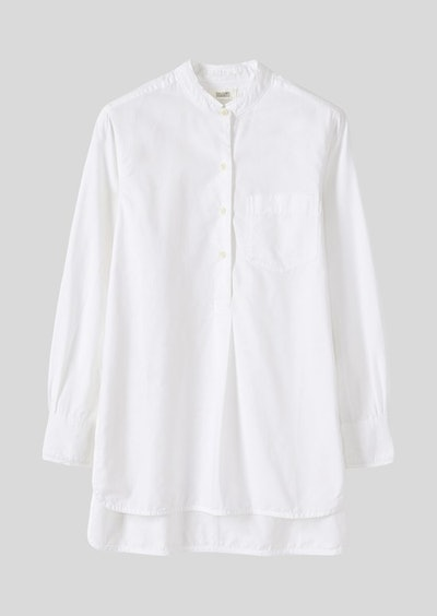 Cotton Oxford Long Shirt