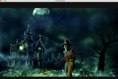 Haunted house zoom background: grim reaper