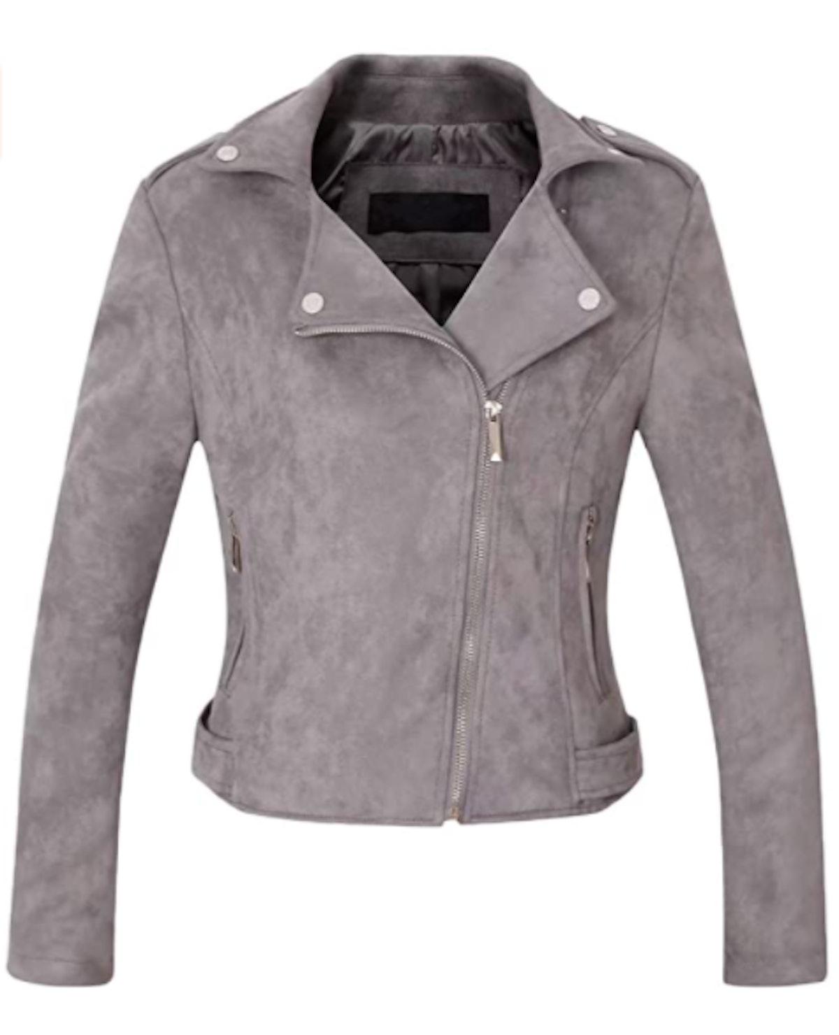 CHARTOU Suede Leather Moto Jacket