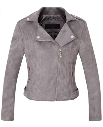 CHARTOU Suede Leather Moto Jacket