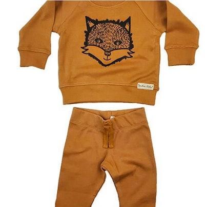 Fox Pullover Sweatshirt Jogger Set