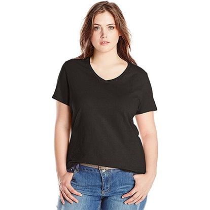 Just My Size Plus-Size Short-Sleeve V-Neck T-Shirt