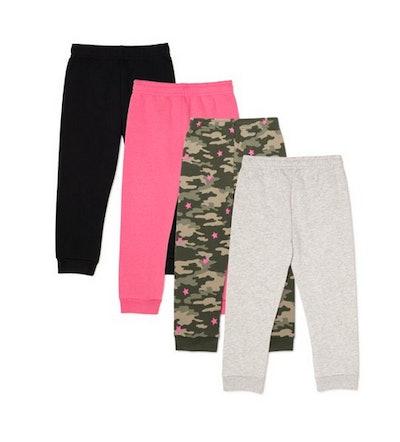 Garanimals Toddler Girls Fleece Sweatpants, 4-Pack