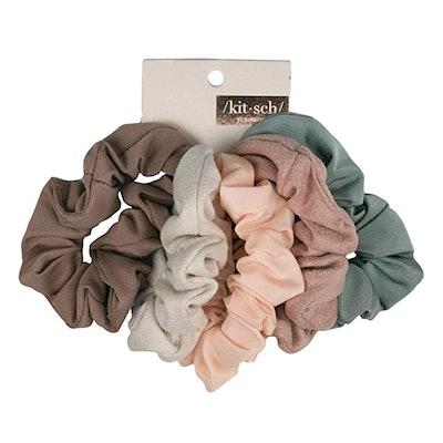 Kitsch Matte Scrunchies for Hair (5-pack)