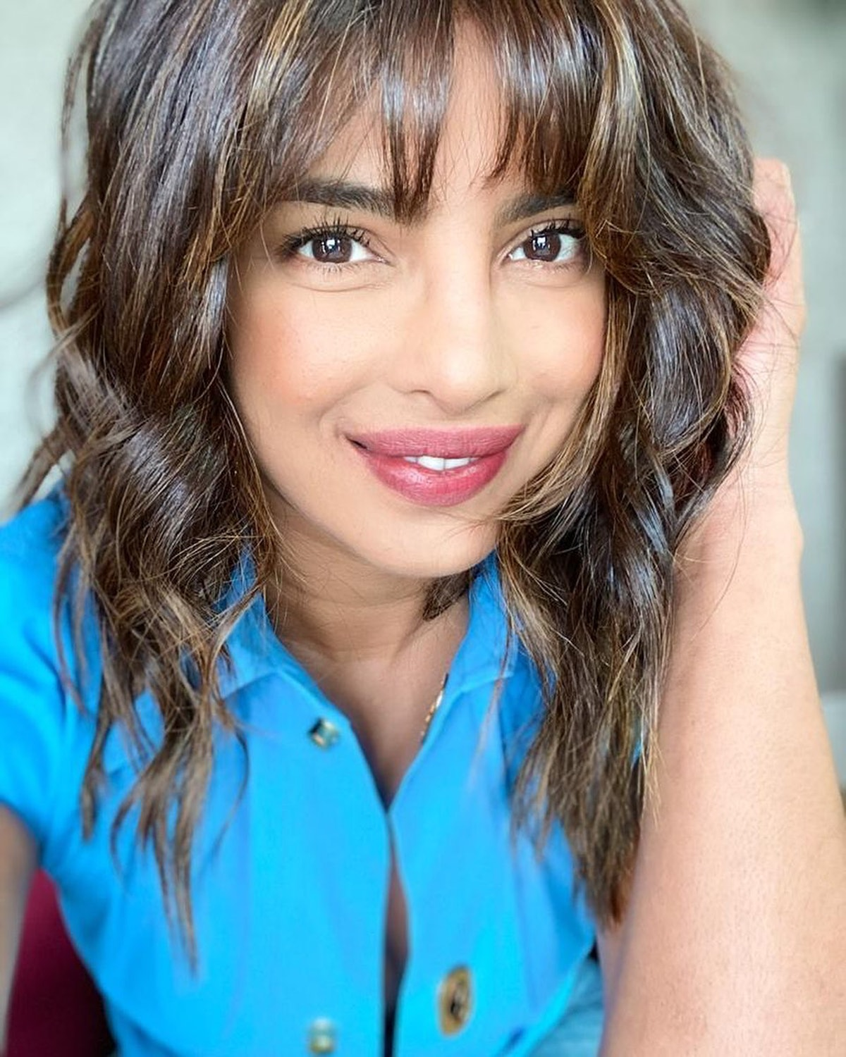 Priyanka Chopra's bangs were a different look for the star.