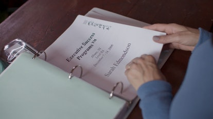 An Executive Success Programs binder from 'The Vow' via the HBO press site
