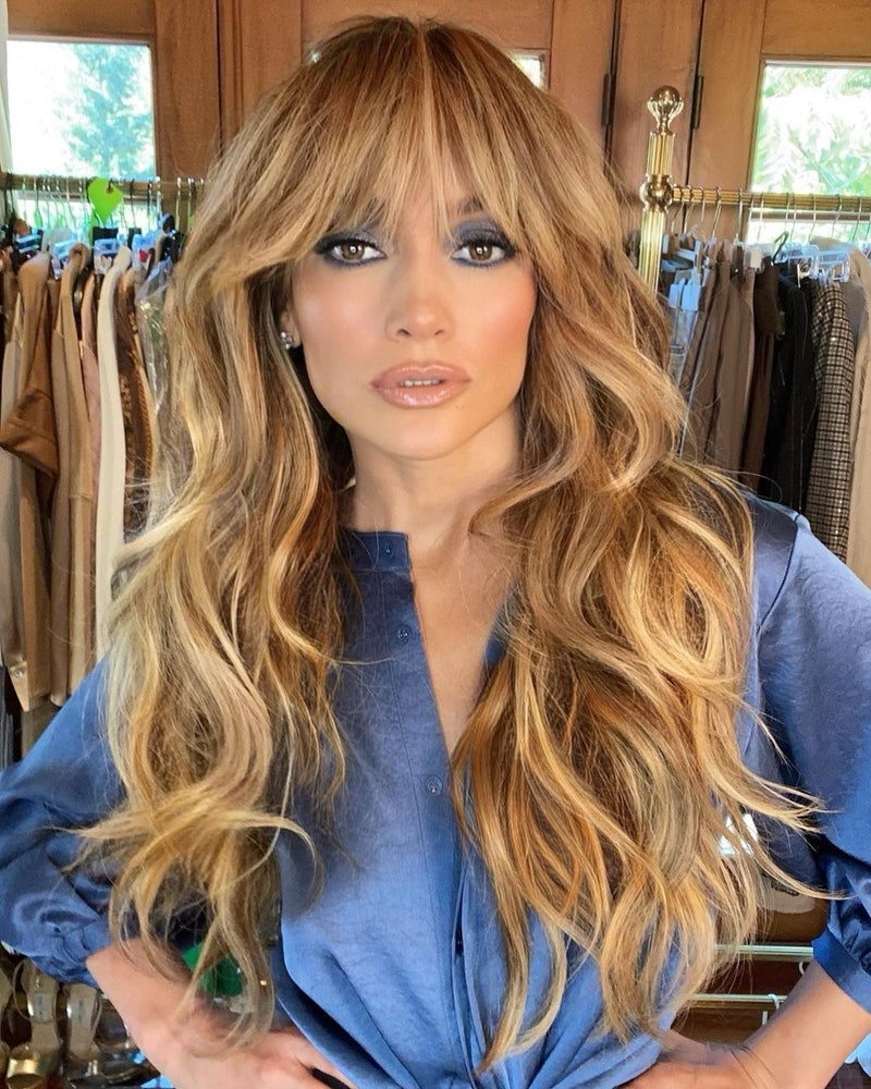 Jennifer Lopez's curtain bangs are one of the latest bang transformations.