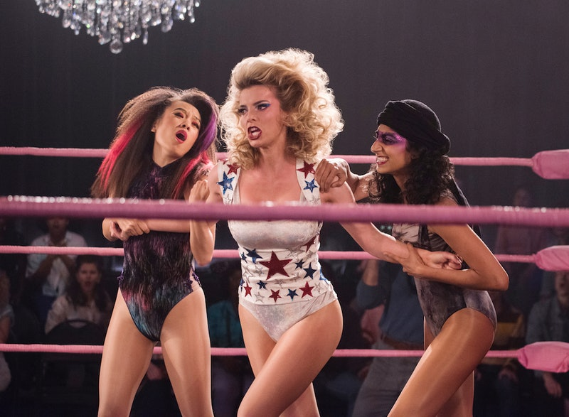 Ellen Wong, Betty Gilpin, and Sunita Mani in Netflix's 'GLOW'