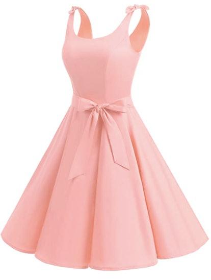 1950's Bowknot Vintage Swing Dress