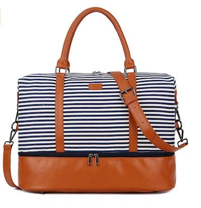 BAOSHA Canvas Weekender Bag
