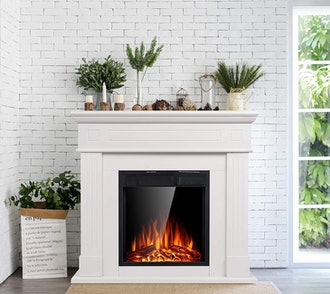 JAMFLY 43-Inch Electric Fireplace with Mantel