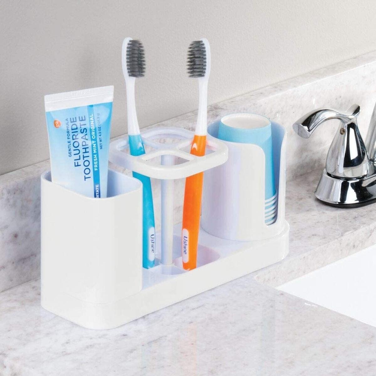 mDesign Toothbrush Holder