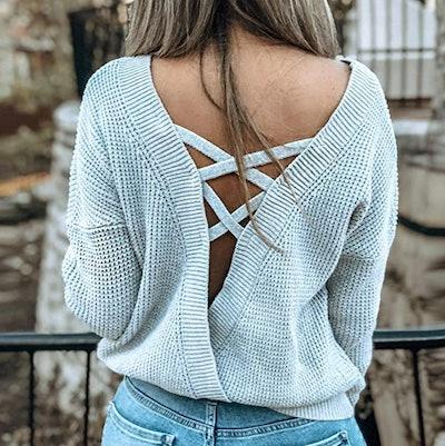 Asvivid Criss-Cross Sweater