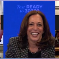 Kamala Harris compares Trump to Thanos in a Zoom reunion with the Avengers
