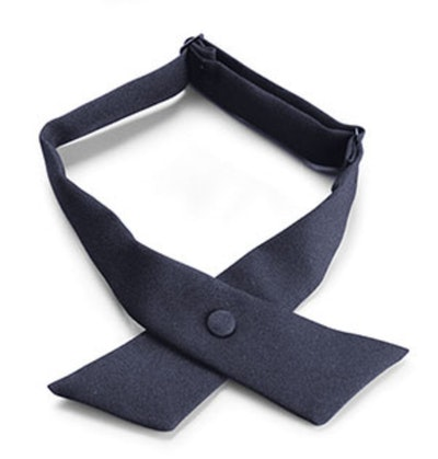 Navy Crossover Necktie