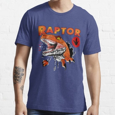 Red Bubble Ghost World Raptor Fitted T-Shirt