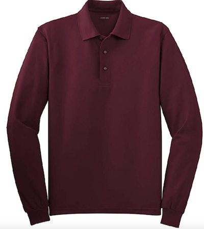 Joe's USA Mens Long Sleeve Polo Shirt
