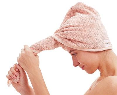 M-bestl 2 Pack Microfiber Hair Towel (2-Pack)