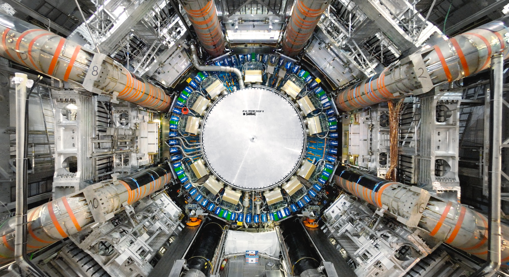 View of the ATLAS detector.