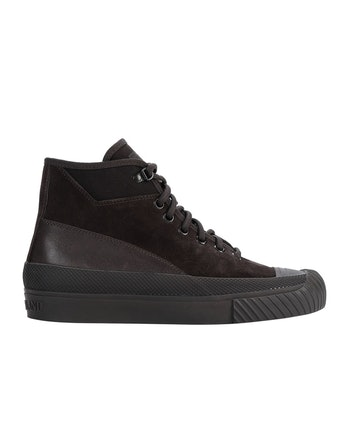 Stone Island S02F6 Suede Mid Ghost Piece