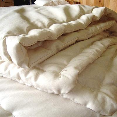 Holy Lamb Organics Wool Comforter, Cool Comfort (Full/Queen)