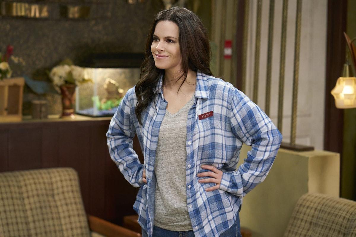 Stevie Budd is known for her flannels on 'Schitt's Creek.'