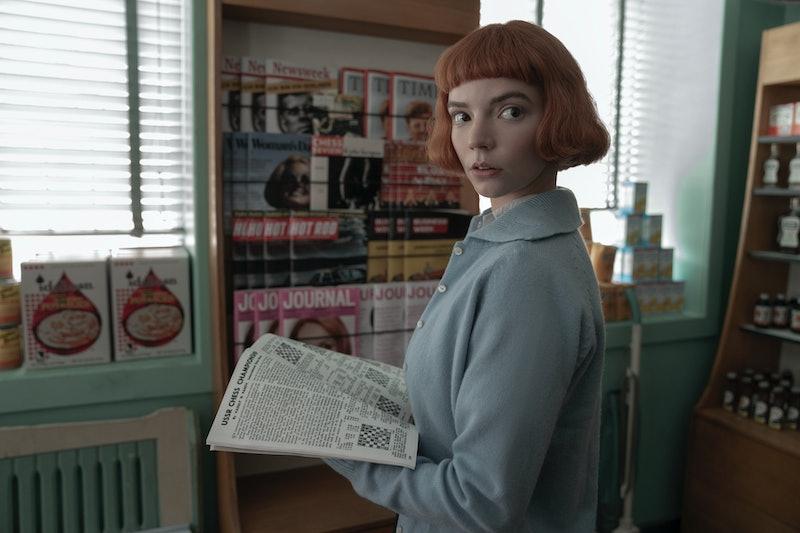 Anya Taylor-Joy as Beth Harmon in Netflix's 'The Queen's Gambit,' via the Netflix press site.