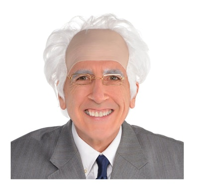 Balding Wig With White Hair