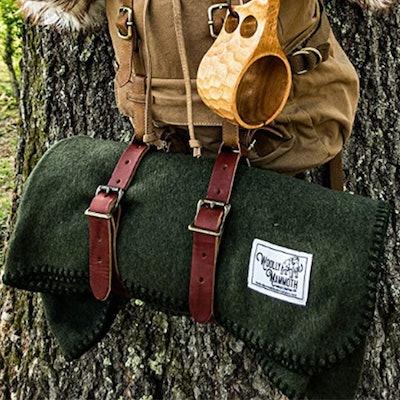 "Woolly Mammoth Woolen Co. Extra Large Merino Wool Camp Blanket (66 x 90"")"