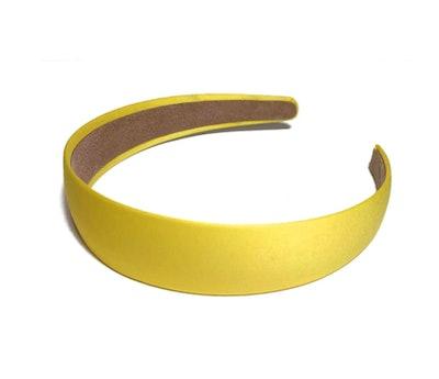 Yellow Satin Headband