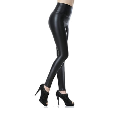 Everbellus Faux Leather High-Waisted Leggings